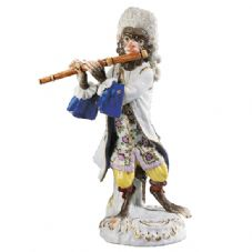 Meissen Monkey Band - Figurine of a Flautist